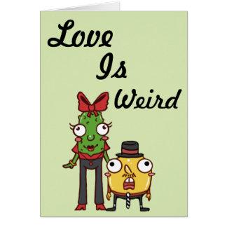 El amor es tarjeta extraña del dibujo animado