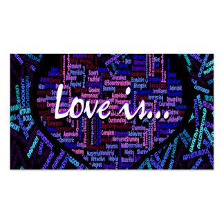 El amor es… tarjetas de visita