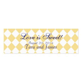 El amor es tarjetas de etiqueta dulces del favor d tarjetas de visita mini