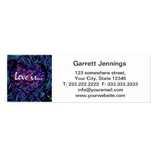 El amor es… tarjetas de visita mini