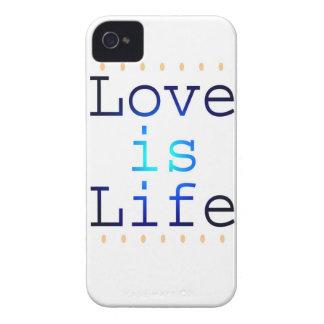 El amor es texto de la vida Case-Mate iPhone 4 cobertura