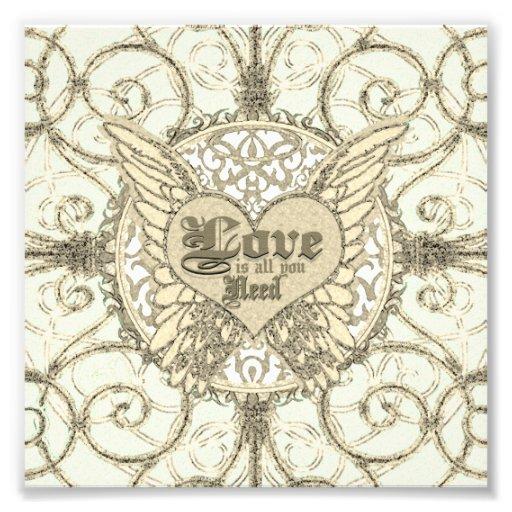 El amor es todo lo que usted necesita las alas y e cojinete