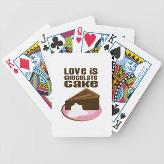 El amor es torta de chocolate baraja de cartas