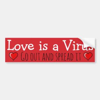 El amor es un virus: ¡Salga y sepárelo! Pegatina Para Coche
