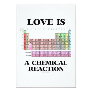 El amor es una reacción química (la tabla invitación 12,7 x 17,8 cm