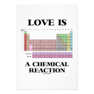 El amor es una reacción química (la tabla periódic anuncio personalizado