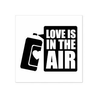 El amor está en el aire sello de caucho