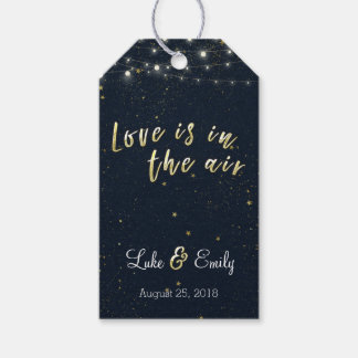 El amor está en el favor del boda del aire etiquetas para regalos