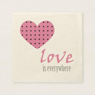 El amor está por todas partes - las servilletas servilleta de papel