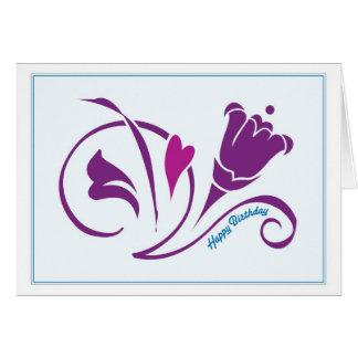 El amor florece azul de /sky de la tarjeta de cump