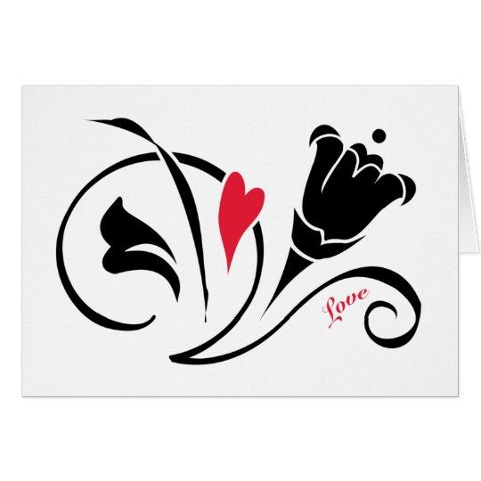 El amor florece tarjeta de felicitación