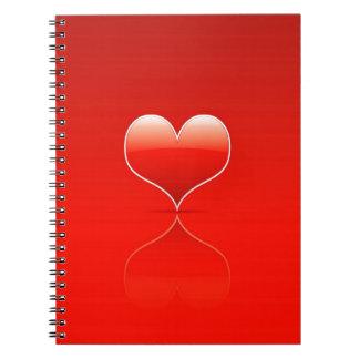 El amor fresco abstracto destroza libretas espirales