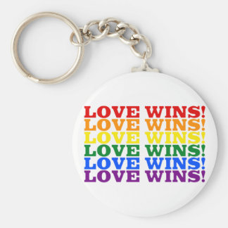 El amor gana el arco iris llavero redondo tipo chapa