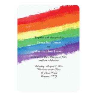 El amor gana la invitación del arco iris