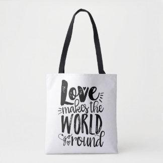 El amor hace que el mundo va alrededor de la bolsa