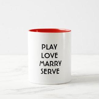 el amor lindo del juego casa la taza de café