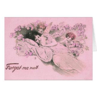 El amor me olvida no tarjeta de felicitación