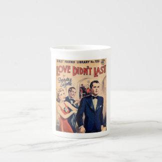 El amor no duró la taza romántica de la revista taza de porcelana