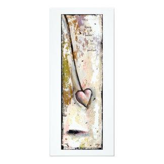 El amor no es arte expresivo crudo hermoso invitación 10,1 x 23,5 cm