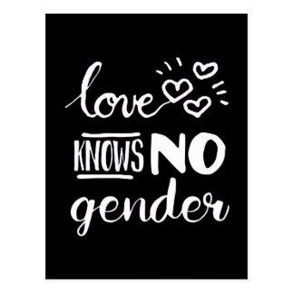 El amor no sabe ningún género postal