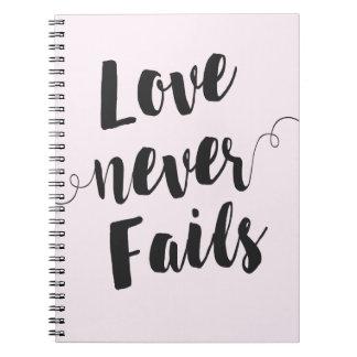 El amor nunca falla el cuaderno espiral