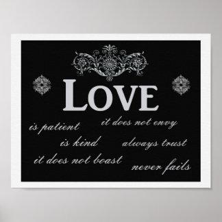 El amor nunca falla --- Impresión del arte