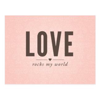 El amor oscila mi postal del vintage del mundo