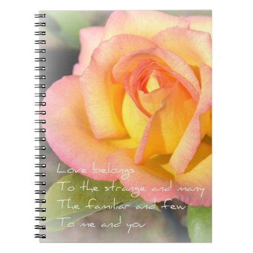 El amor pertenece cuaderno subió poema