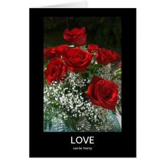 El amor puede ser espinoso yo es tarjeta triste