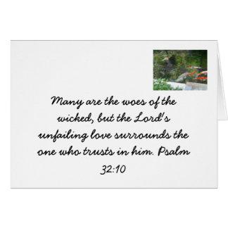El amor unfailing de dios - tarjeta cristiana