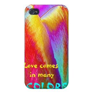 El amor viene en muchos COLORES iPhone 4/4S Fundas