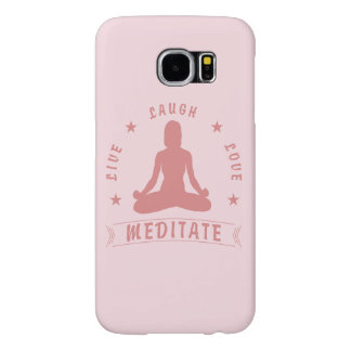 El amor vivo de la risa Meditate texto femenino Funda Samsung Galaxy S6