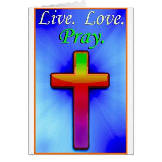 El amor vivo ruega (#1) tarjeta de felicitación