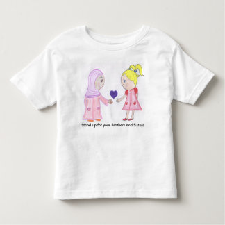 El amor y la amistad curan el mundo camiseta de bebé