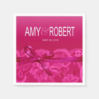 El Amy arquea fuschia del boda de la cinta y del Servilletas De Papel