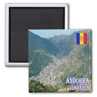 ÉL - Andorra - La Vella Imán Cuadrado