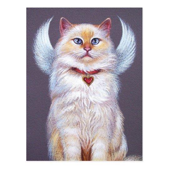 El ángel de la tarjeta del día de San Valentín