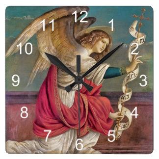 El ángel Gabriel Reloj Cuadrado