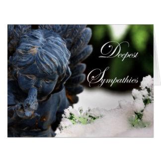 El ángel más profundo y paloma de la nieve del tarjeta de felicitación grande