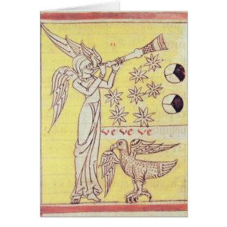 El ángel que sopla la trompeta felicitacion