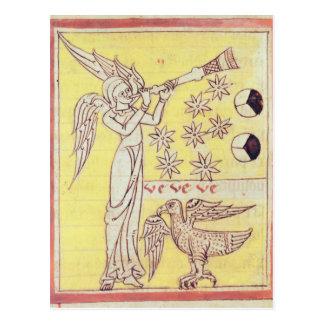El ángel que sopla la trompeta postal
