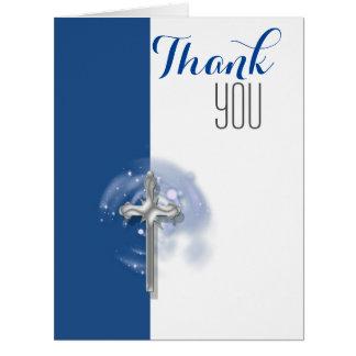 El ángel religioso de la confirmación le agradece tarjeta de felicitación grande