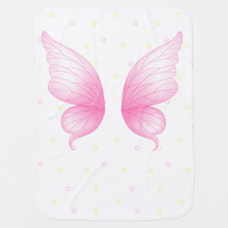 El ángel rosado se va volando la manta del bebé