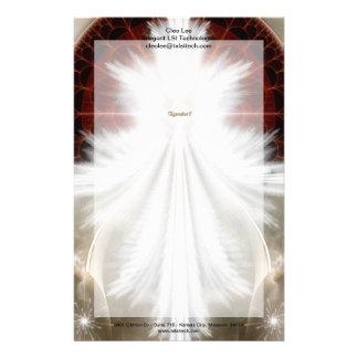 El ángel se va volando arte del fractal del copo papelería personalizada