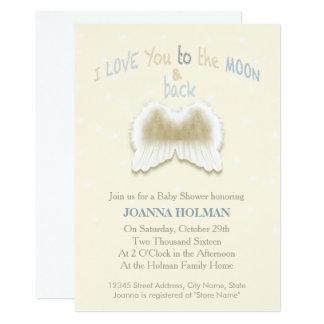 El ángel se va volando la tarjeta de la fiesta de invitación 12,7 x 17,8 cm