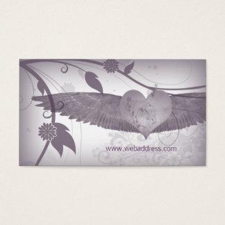 El ángel se va volando la tarjeta de visita