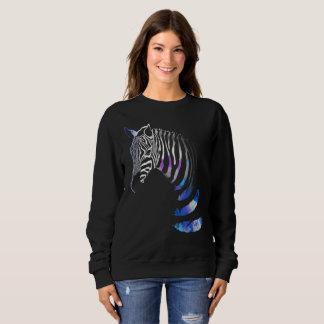 Sudadera El animal de la cebra raya las plumas, camiseta