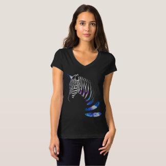 Camiseta El animal de la cebra raya las plumas, camiseta