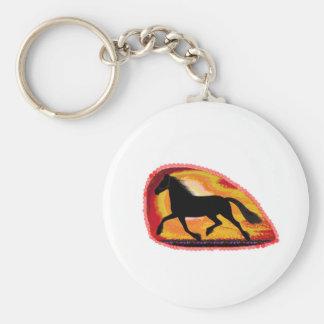 El animal de mascota del caballo añade color de llavero redondo tipo chapa