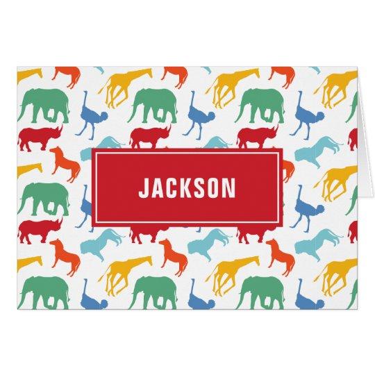 El animal de muy buen gusto del safari del tarjeta pequeña